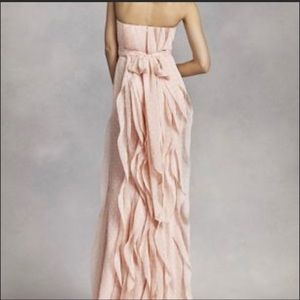 Vera Wang Strapless ruffle dress.